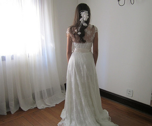 bride, dress, and romantic image