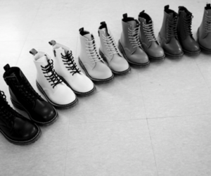 black&white, boots, and doc martens image