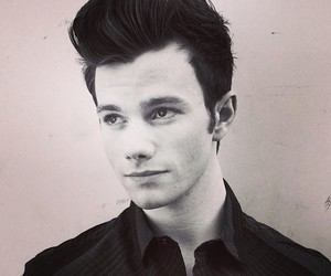 chris colfer and glee image