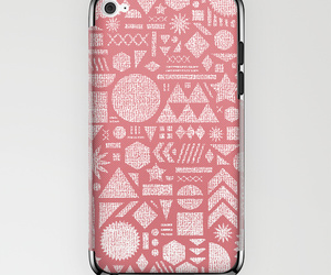 pink pattern, collage drawing, and free shipping image