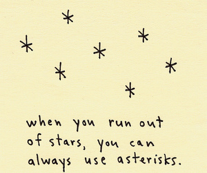 stars, asterisk, and quote image