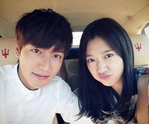 park shin hye, lee min ho, and heirs image
