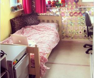 bed, bedroom, and macbook image