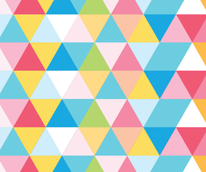 blue, triangle, and wallpaper image