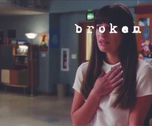 glee, broken, and lea michele image