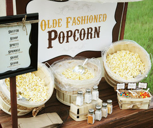 popcorn bar and barn dance image
