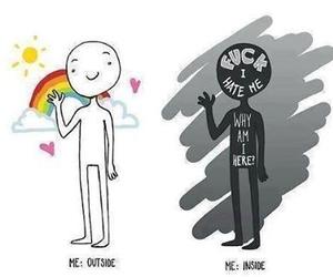 me, inside, and sad image