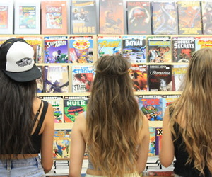 girls, hair, and friends image