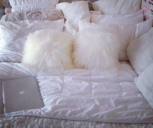 bed, luxury, and pillow image