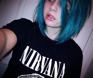 bea miller, nirvana, and blue hair image