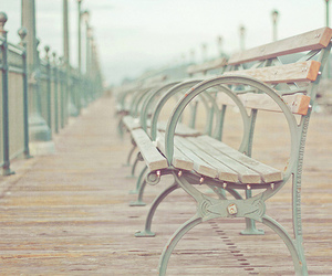 bench, photography, and solitude image
