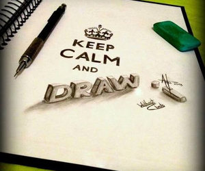 draw, keep calm, and art image