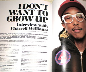 hip hop, pharrell, and interview image