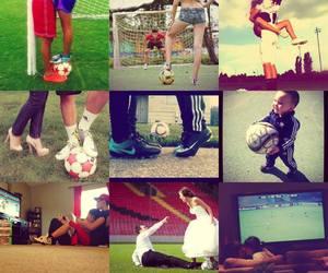 adidas, ball, and couple image