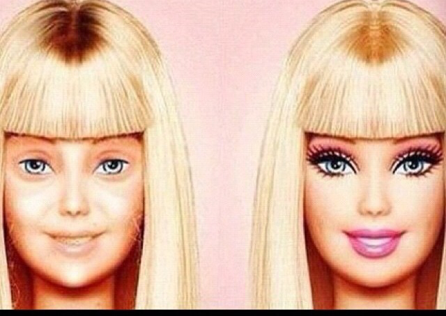 barbie, makeup, and doll image