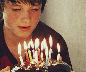 josh hutcherson, birthday, and cake image