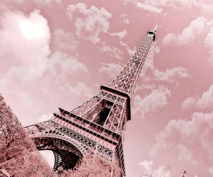 eiffel tower, pink, and tower image