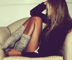 girl, hair, and socks image