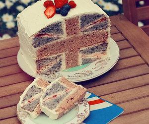 cake, england, and food image