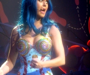 blue hair and katy perry image