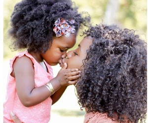 African, curly hair, and daughter image