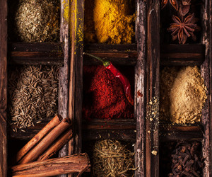 spices, Cinnamon, and pepper image