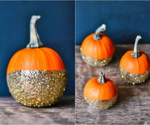 autumn, pumpkin, and decorations image