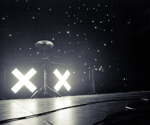 the xx, light, and black and white image