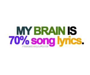music and song lyrics image