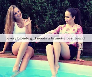 blonde, brunette, and quote image