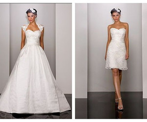lace wedding dress and 2 in 1 wedding dress image