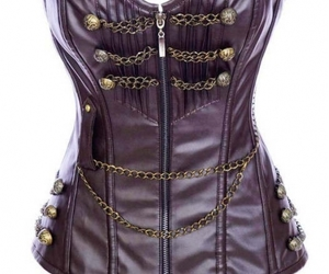 purple and leather corset image