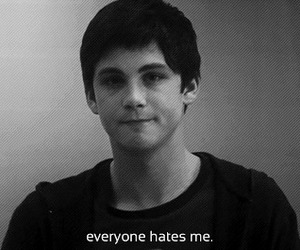hate, logan lerman, and sad image