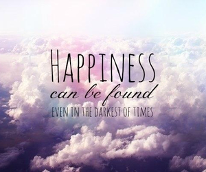 quote, happiness, and clouds image