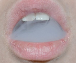 smoke, lips, and mouth image