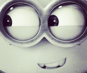 black and white, minions, and me image