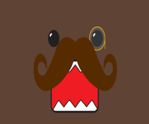 brown, domo, and cute image