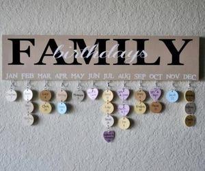 birthday, family, and diy image