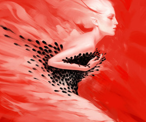 red and art image