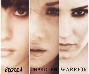 warrior, demi lovato, and unbroken image