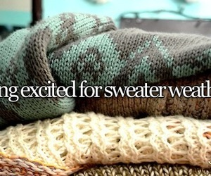 sweater, autumn, and weather image