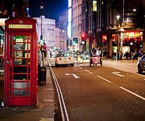 london, city, and night image