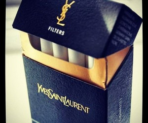 cigarette, YSL, and smoke image