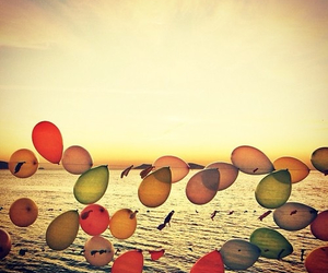 balloons, sun, and water image