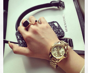 watch, bag, and rings image
