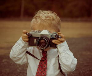 boy, camera, and child image