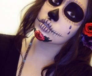 maquillaje, zombies, and halloween make up image