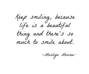 smile, quote, and beautiful image