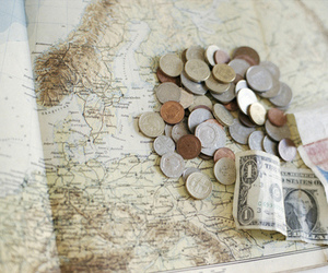money, travel, and vintage image