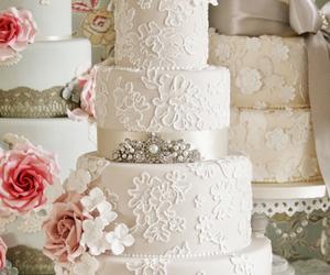 cake, wedding cake, and wedding image